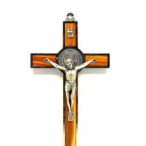 Croce-Medaglia San Benedetto legno d'ulivo