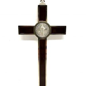Crocifisso San Benedetto laccato 12 cm