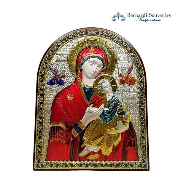 Quadro Argento 925 Madonna col bambino