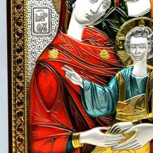 Quadro Argento925 Sacra Famiglia particolare