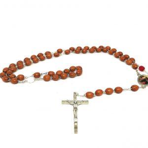 Rosario legno Maria che scioglie i nodi
