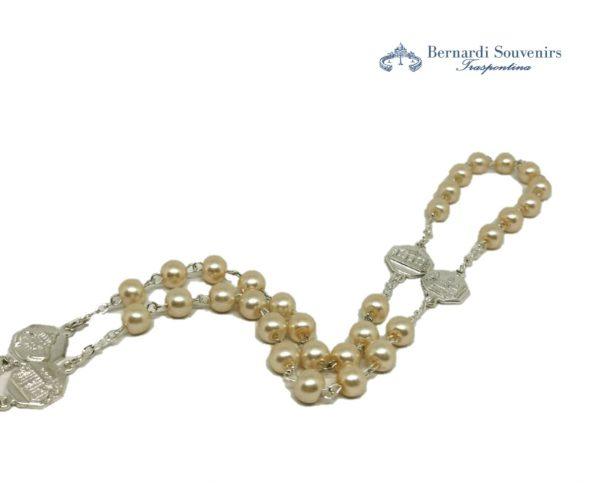 rosario 4 basiliche argento particolare