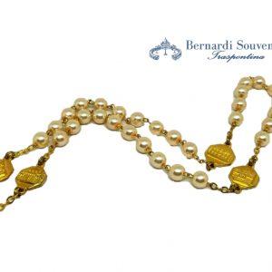 rosario 4 basiliche oro particolare