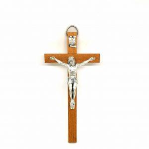 Crocifisso legno da parete 20 cm