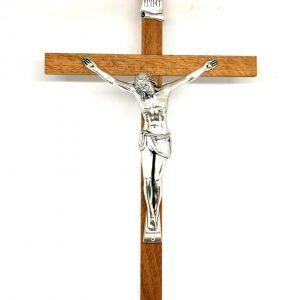 Crocifisso legno da parete 30 cm