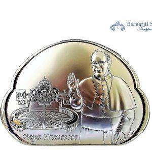 Quadro Argento Papa Francesco