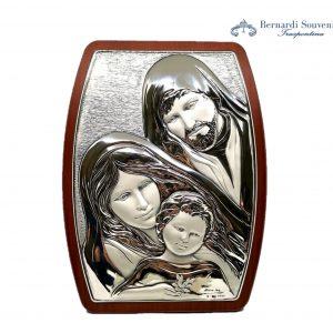 Quadro Argento Sacra famiglia 17x23