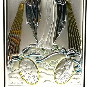 Miraculous Virgin Mary silver Picture 11x7