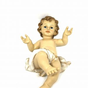 Statua Gesù bambino 22 cm resina