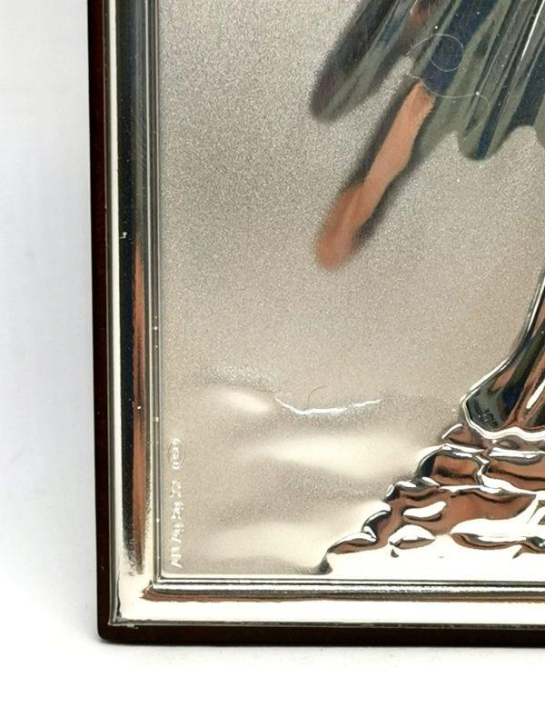 quadro argento925 gesu misericordioso particolare