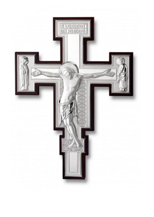 Crocifisso San Damiano Argento 28x16 cm