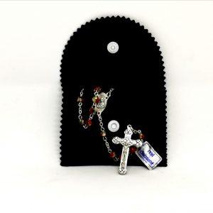 Porta Rosario velluto nero Vaticano