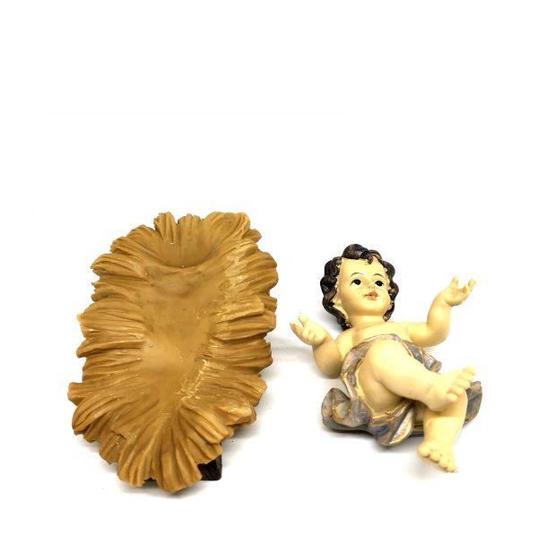 Gesù Bambino con culla 17 cm 2