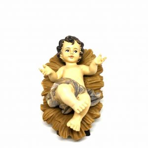 Gesù Bambino con culla 17 cm