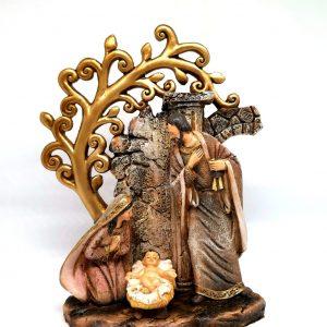 Natività in resina con albero della vita