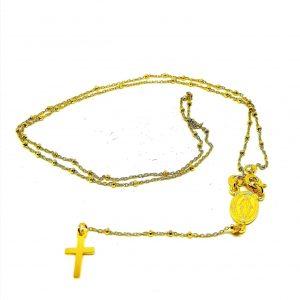 Rosario Medaglia Miracolosa Argento Placcato oro