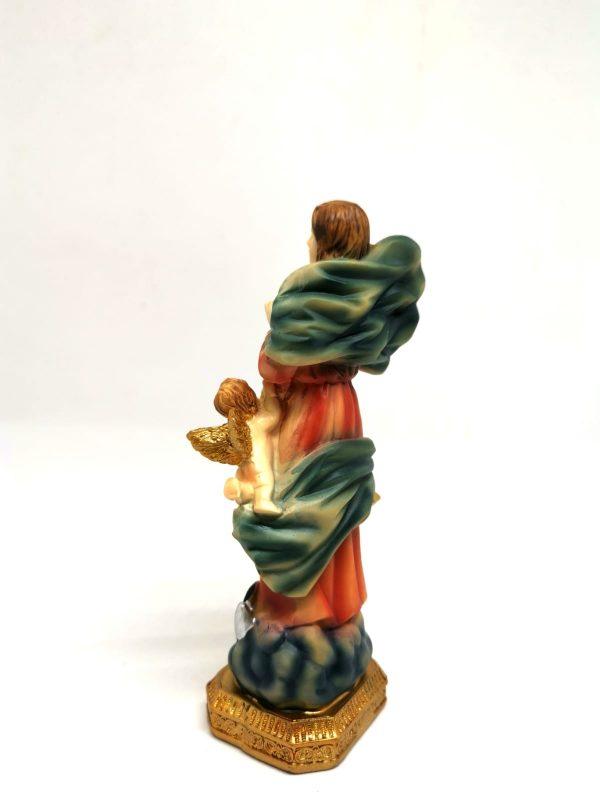 Statua Madonna che scioglie i nodi 15 cm retro