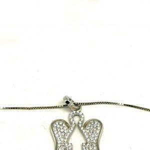 Collana argento 925 angelo particolare