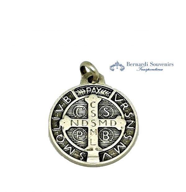Medaglia San Benedetto Argento925 retro