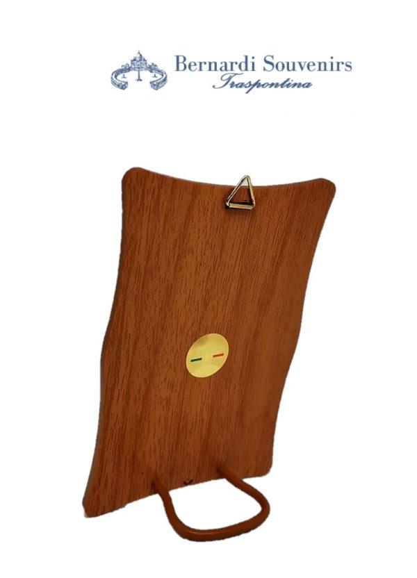 Quadretto legno San Giuseppe retro