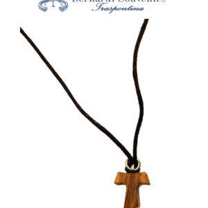 Croce tau pendente legno